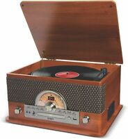 ION Superior LP  7-in-1 USB, Cassette, CD Turntable with Bluetooth & AM/FM Radio