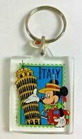 Vintage Walt Disney World  Epcot ITALY Mickey Mouse Plastic Key Chain