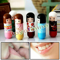 Randomly Colorful Girl Makeup Lip Gloss Balm Lovely Lipstick Kimono doll Pattern