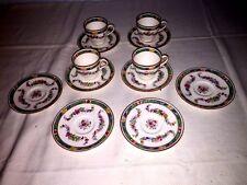Royal Doulton ~ Satsuma E5692 Demitasse Cups & Saucers (4 Sets) ~ England