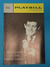 EDDIE FISHER at Winter Garden Playbill Oct. 28 1962 Vol.6 No. 44