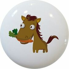 HORSE with Carrot Kids Cabinet DRAWER Pull KNOB