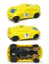 1990 POLISTIL Policar Mini? Porsche 934 EuroSport Italy Odd HO Slot Car Yellow 9