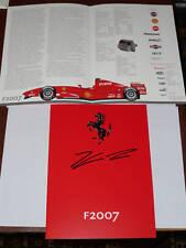 Signed Kimi Raikkonen Ferrari F2007 Promo Booklet