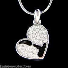 w Swarovski Crystal ~Heart Mama Child Boyfriend Girlfriend Husband Wife Necklace