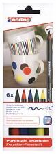 Amazing Edding 4200 Porcelain Brush Pen - Colour & Decorate Porcelain 6 Colours