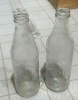 VINTAGE SODA BOTTLE COCA COLA BOTTLE 2 COKE BOTTLES 10 OZ BOTTLES
