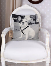 Decorative Pillow Gobelin Tapestry Cushion French Bulldog Cushion Cover Country