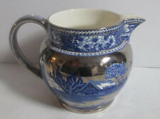 WEDGWOOD FALLOW DEER BLUE PLATINUM PITCHER 20 oz Lustreware