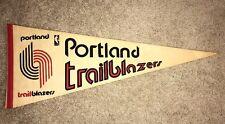 NBA Portland Trailblazers Vintage Circa 1969 Logo Basketball Pennant