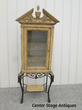 58838 Modern Curio Cabinet with Iron Base