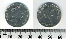 Bermuda 1987 - 25 Cents Copper-Nickel Coin - Yellow-billed tropical bird