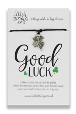 Good Luck Little Wishes Bracelet Thoughtful Gifts Wishstrings UK Made Gift Idea