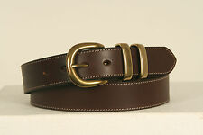 Legends Leather Belt- COGNAC with brass buckles- 1st Grade Leather (1102)