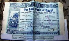 Land Bank of Egypt. Share Warrant to Bearer dated 1905 share bond