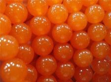 "12mm Rare Orange South America Topaz Round Loose Beads 15"" AAA"