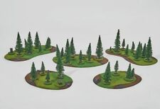 Wargame scenery FOREST SET 32 trees + 8 objectives Warhammer Bolt Action 28mm