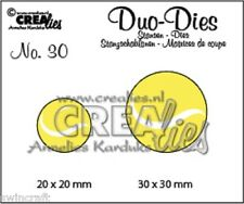 Crealies Cutting & Embossing Duo Dies TENNIS BALLS CLDD30 20x20mm 30x30mm