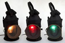Vintage Railroad Lantern Electric Plug in Indian Rail Lamp Switch 4 Way Signal