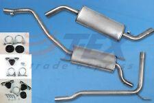 Auspuff VW T4 1.9 2.0 2.4D 2.5D 90-95 KURZ Auspuffanlage + Montagezubehör