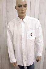 RALPH LAUREN Camicia Uomo Taglia 2XL Cotone Shirt Chemise Casual Manica Lunga
