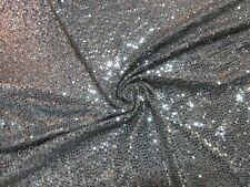 "1 yard & 34"" stretch slinky knit fabric beautiful silver color sequin dots"