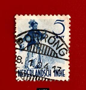 Netherland indies JO : Dancer 5c, PORRONG  .x8.1.04 Pmk.
