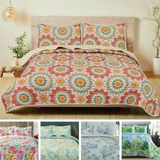 Pieridae Microfiber Reversible Quilt Set, Bedspread Coverlet Bedding Set