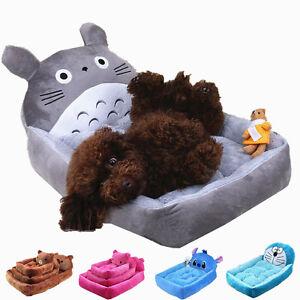 Pet Cat Dog Bed Mat Cartoon Soft Warm Fleece Puppy Cushion Kennel Dog House S-XL