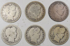 1908 - 1911 BARBER QUARTERS - LOT/6 - PLEASING CIRCULATED EXAMPLES!