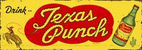 TEXAS PUNCH ADVERTISING METAL SIGN
