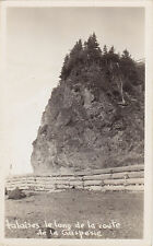 Falaises Route de la GASPÉSIE Quebec Canada 1940-50s Carte Photo Michel RPPC
