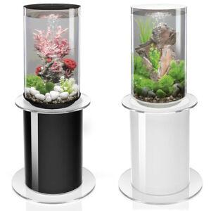 biOrb Tube 30L MCR LED Aquarium & 105 Stand Black/White Fish Tank Display Oase