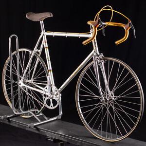 Vintage Steel Pogliaghi Pista Single Speed Size 58cm unrestored Super Record