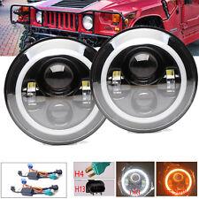 For Hummer H3 H3T H2 H1 LED Halo Angel Eyes DRL Headlight H4-H13 Hi/Lo Beam Lamp