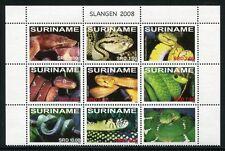 Surinam 2008 Schlangen Snakes Reptilien Reptiles 2221-2228 ** MNH