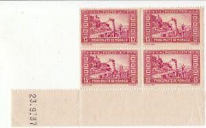 lot de 4 timbres  anciens de Monaco non oblitérés 1937