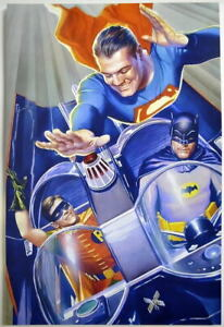 1966 BATMAN MEETS SUPERMAN / George Reeve Print DC