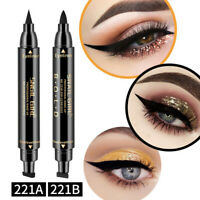 SNAIL GIRL Double Head Black Waterproof Liquid Eyeliner Cosmetics Long-lasting