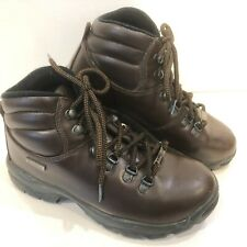 Hi Tec Women's' Eurotrek Brown Leather Waterproof Walking/Hiking Boots UK 5 Eur