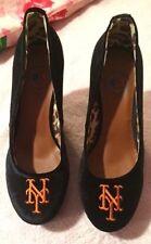 NWB Cuce Shoes New York Mets Women's Groupie II Wedge Shoes - Black