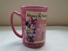 Disney Store Exclusive Minnie Mouse Disney News Large 3D Mug