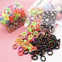 100PCS Women's Elastic Hair Ties Band Ropes Ring Ponytail Holder Hair Scrunchies