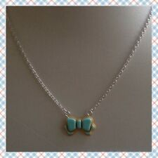 Blue Iced Cookie Bow Necklace - Cute, Kawaii, Sweet Lolita