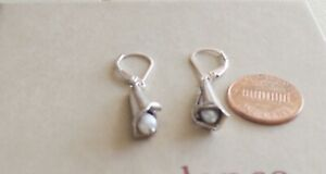 sundance Catalog 'Calla Lily' Earrings Near Pure Sterling and a Freshwater Pearl
