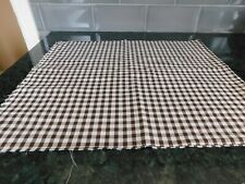NEW BROWN AND WHITE CHECK FABRIC COTTON