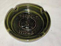 Retro 60/70's SEPPELT Wines Green Advertising Ashtray Elischer Pottery Australia