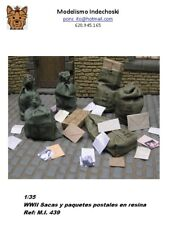 WWII 1/35 Resina bags and postal packages sacas y paquetes postales
