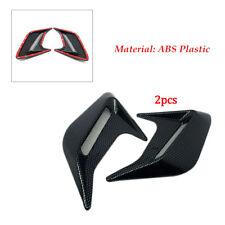 """2PCS 4.72"""" x 3.94"""" Carbon Fiber Color Car Hood Air Flow Fender Side Vent Sticker"""