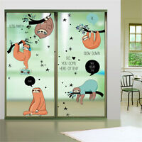 Animals Sloth Room Home Decor Removable Wall Sticker Decals Decoration*